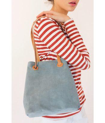 Bolso versátil de piel azul marca BIBA. Complementos de Moda en LAMOI