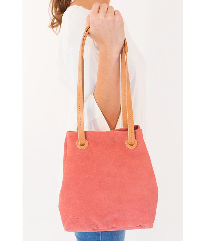 Bolso ajustable de tira múltiple rosa marca BIBA