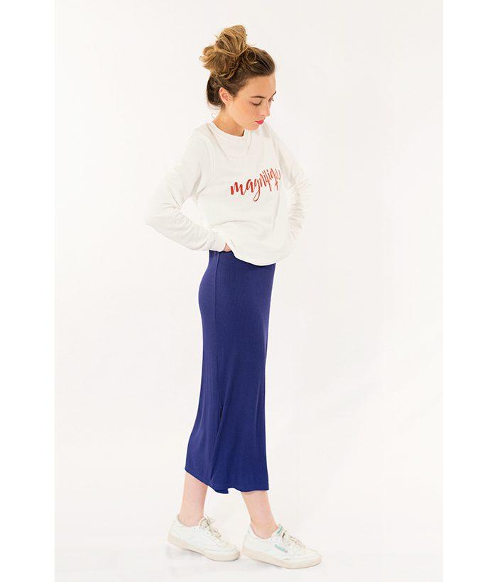 Falda de tubo Azul Klein de la marca Nümph. Toda la moda Primavera Verano 2018 en LAMOI