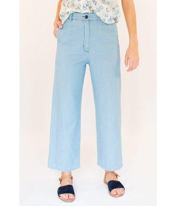 Pantalon Kamm azul claro. Marca ROPA CHICA Moda Primavera Verano LAMOI
