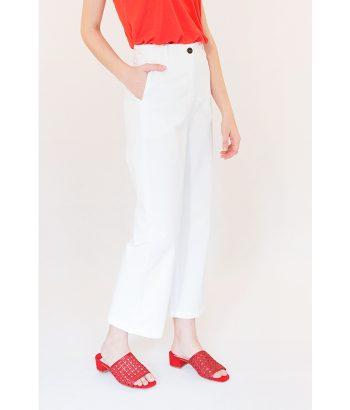 Pantalón Kamm blanco marca ROPA CHICA. Moda Primavera Verano 2018 en LAMOI