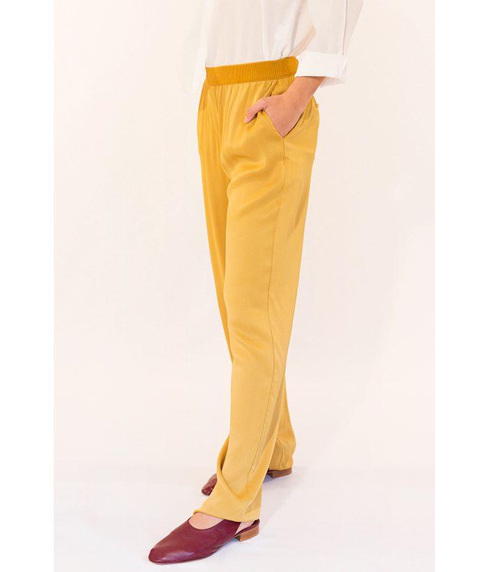Pantalón dorado ligero marca YAYA. Moda Primavera Verano 2018 LAMOI