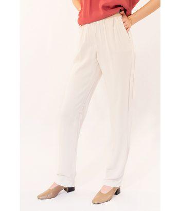 Pantalón ligero con cintura elástica marca YAYA Toda la moda Primavera Verano 2018 en LAMOI