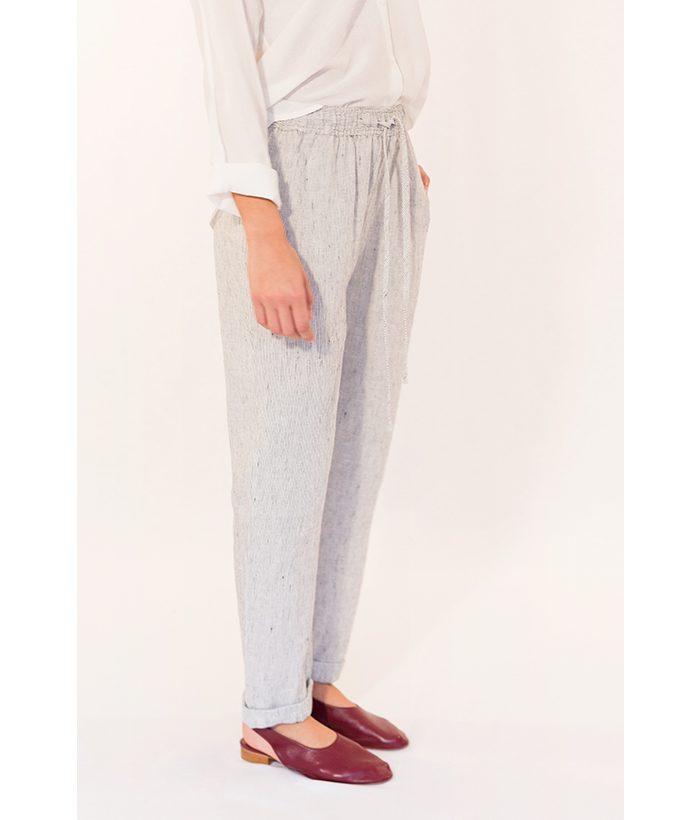 Pantalón de lino marca Harris Wilson. MODA Primavera Verano 2018 LAMOI
