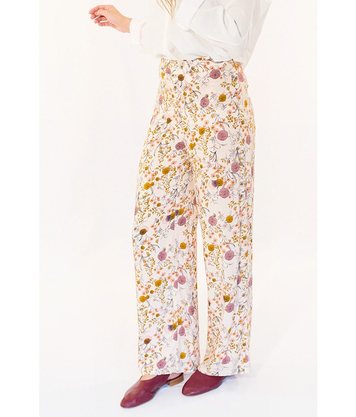Pantalón estampado tonos pastel marca ICHI. Moda Primavera Verano 2018 LAMOI