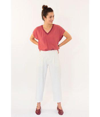 Pantalón palazzo a rayas marca ICHI. Encuéntralo en la colección Primavera Verano 2018 de mujer en LAMOI