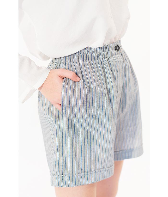 Short finas rayas azul y gris marca ROPA CHICA