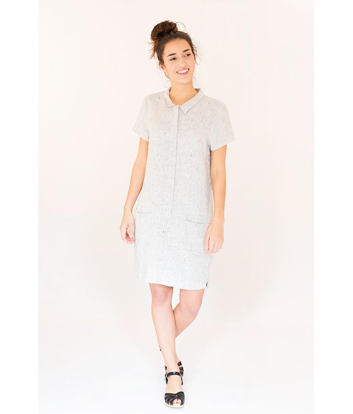 vestido 100% lino LAMOI