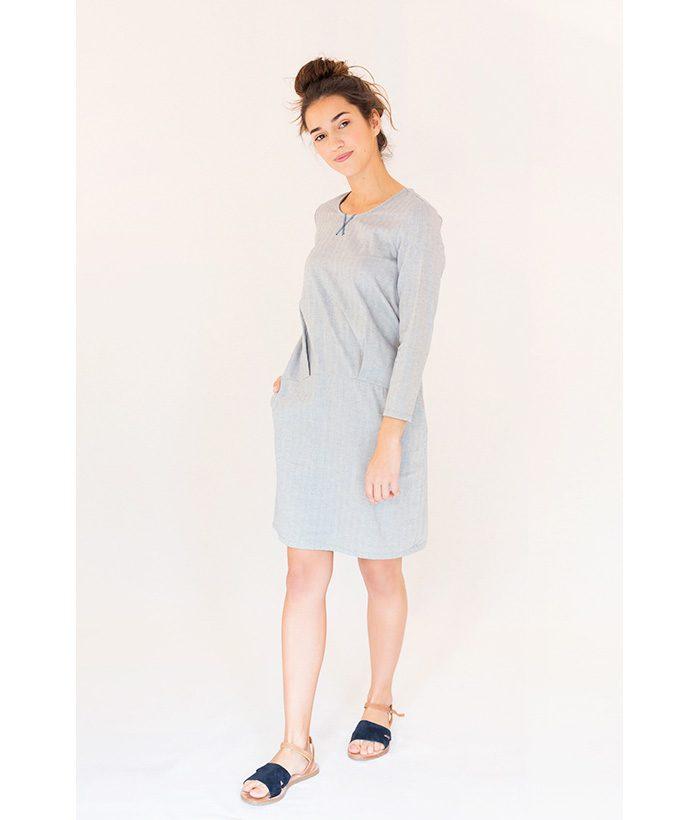 Vestido de algodón azul claro | PAN | Moda Primavera Verano LAMOI