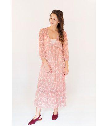 Vestido largo vaporoso de la marca ICHI. Moda Primavera Verano 2018 en LAMOI