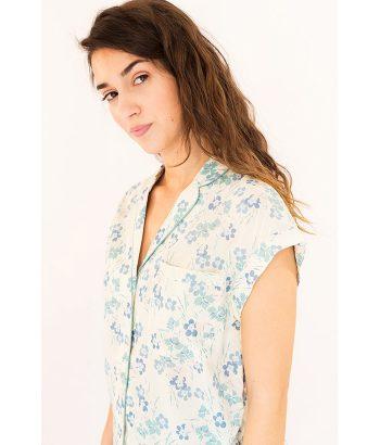 Blusa fresca con estampado floral marca HARRIS WILSON. Moda Primavera Verano 2018 LAMOI