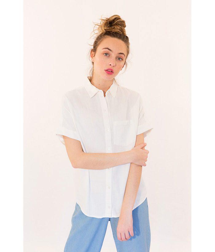 Blusa con bolsillo marca ICHI. Moda Primavera Verano LAMOI 2018