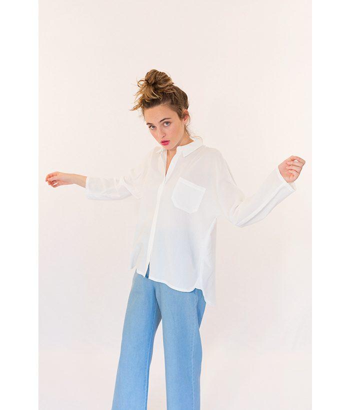 Blusa elegante con bolsillo marca ROPA CHICA. Moda Primavera Verano 2018 LAMOI