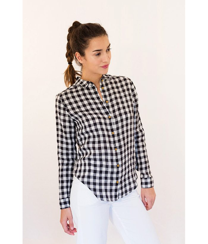 Blusa cuadros vichy marca HARRIS WILSON. Moda Primavera Verano 2018 LAMOI