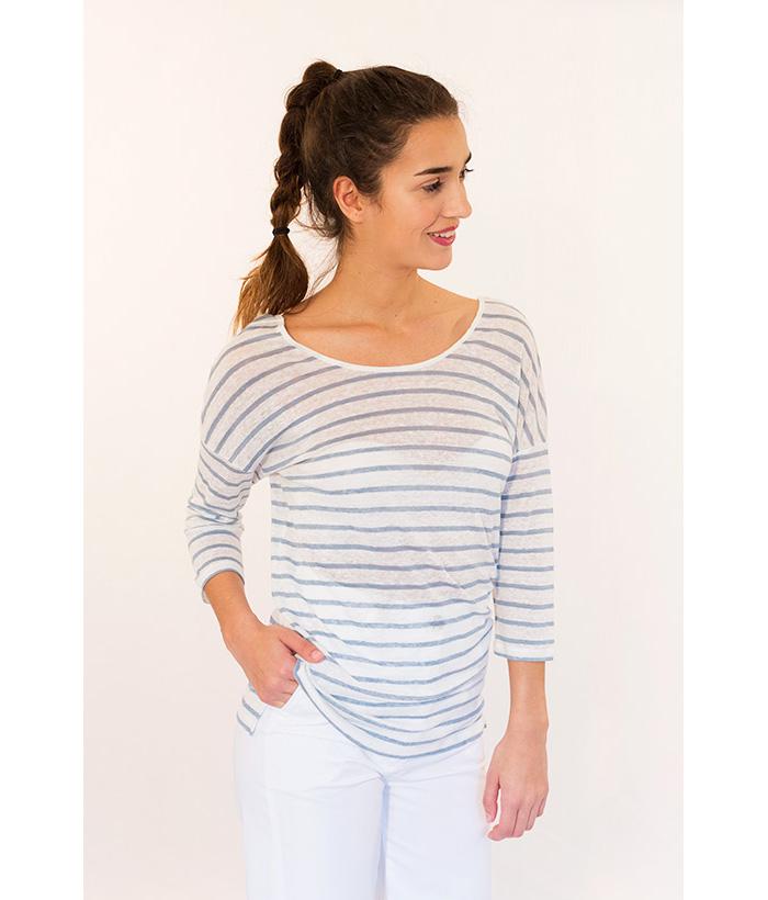 Camiseta lino con manga francesa marca SUD EXPRESS