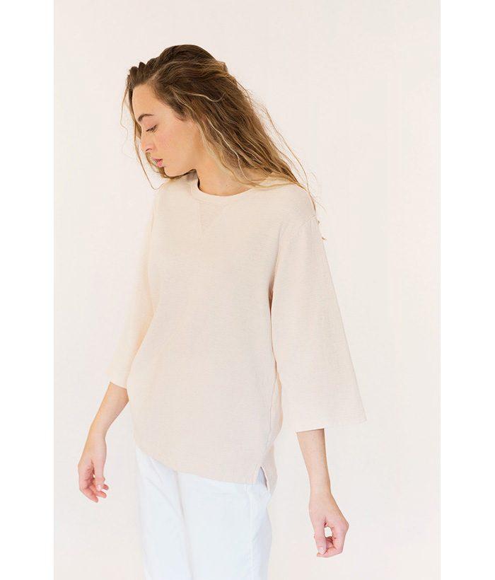 Camiseta tipo sudadera 100% algodón marca YAYA. Moda LAMOI 2018
