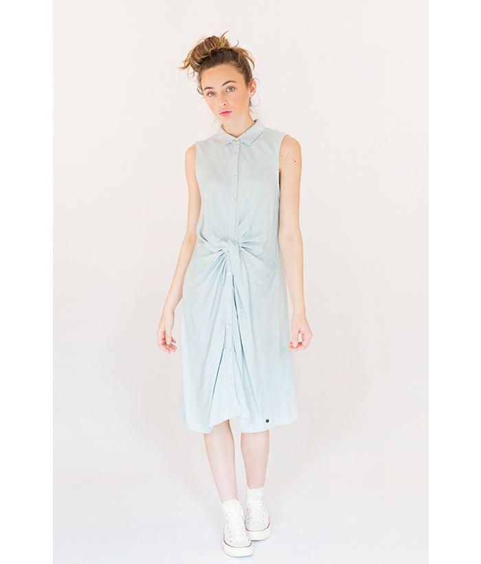 vestido camisero marca Nümph azul celeste