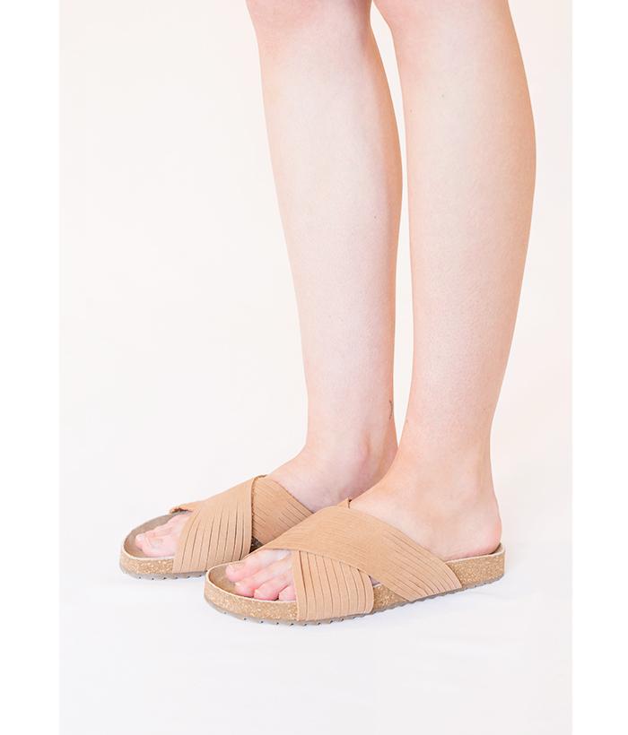 sandalia cruzada