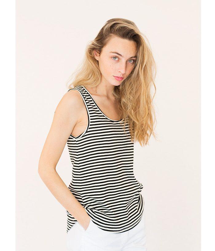 camiseta de tirantes marinera marca ICHI. Moda Primavera Verano 2018 en LAMOI