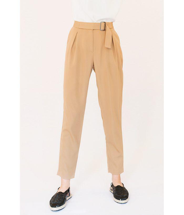 pantalón de vestir camel de ICHI