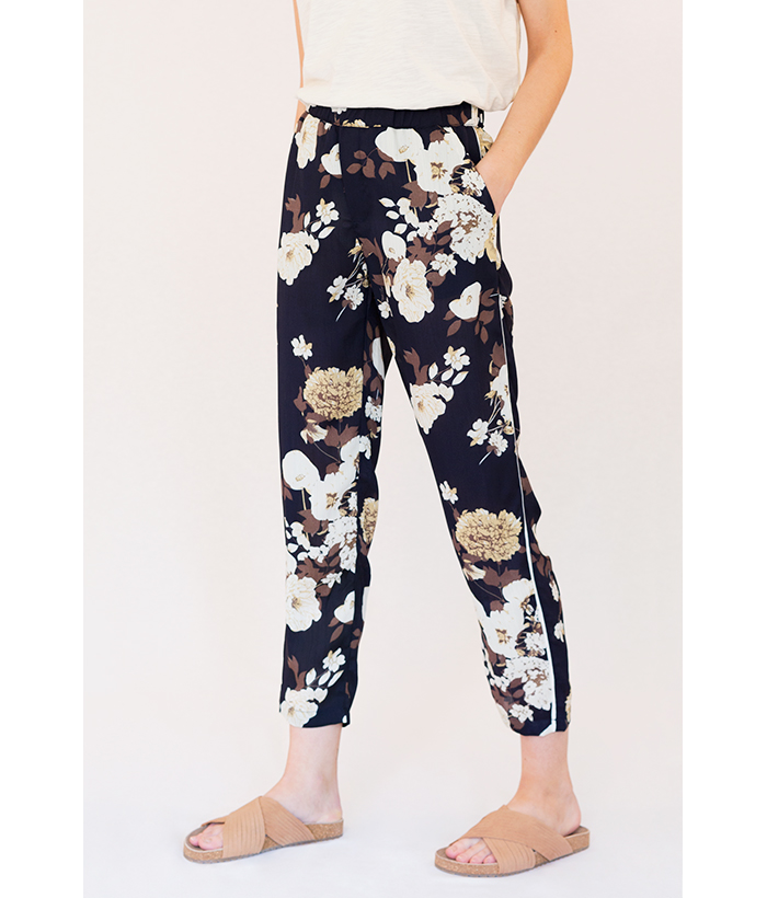 pantalones de flores azul de freequent