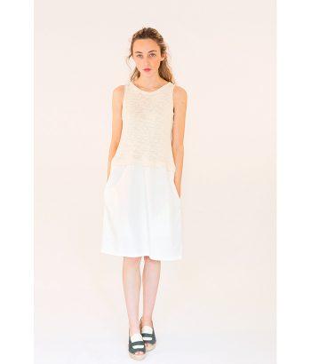 vestido blanco sin mangas LAMOI