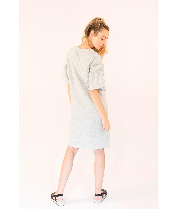 vestido manga corta con volante de FREEQUENT