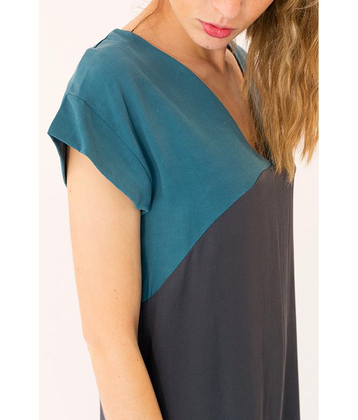 vestido escote en uve de PAN, de LAMOI