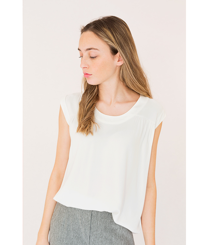 blusa blanca sin mangas de PAN