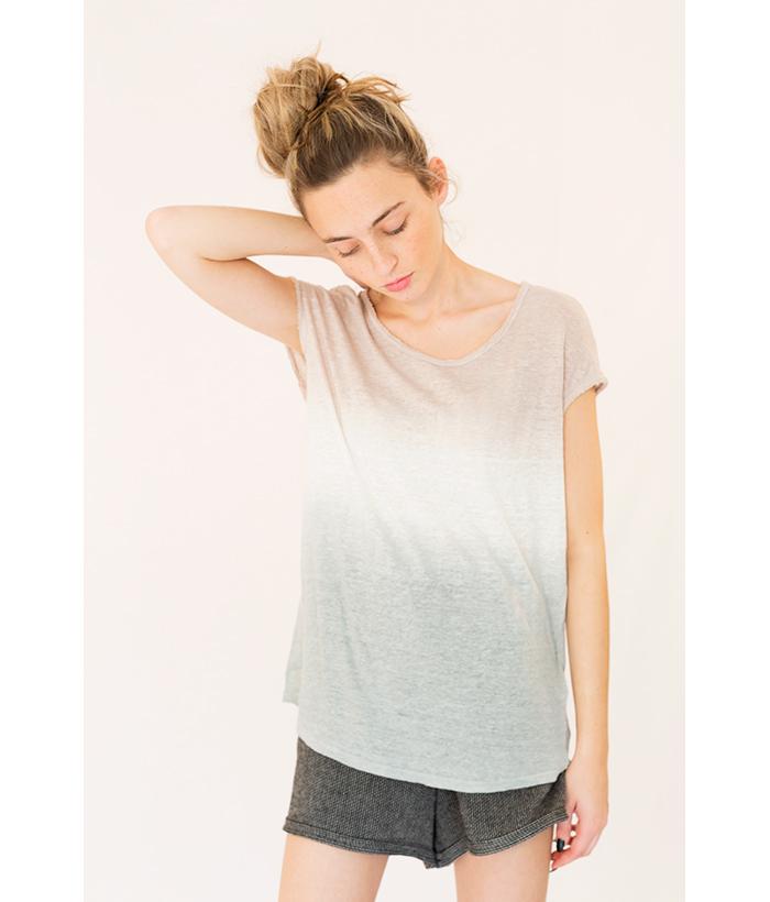 camiseta lino con degradado de Sud Express