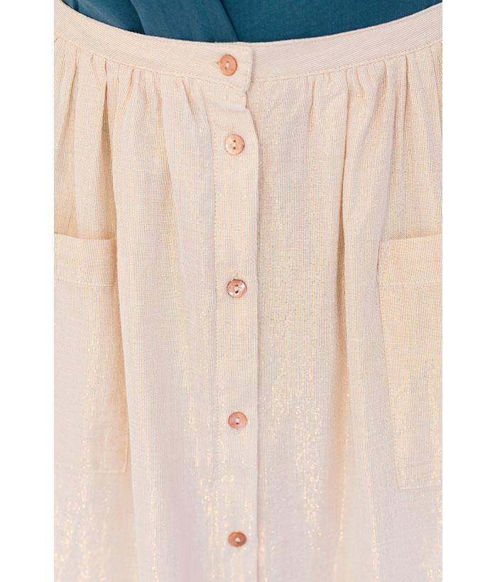 falda de brillo con botones de Harris Wilson