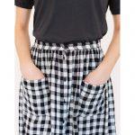 falda midi estampado vichy de Harris Wilson