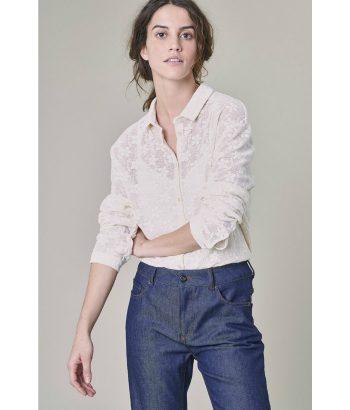 blusa cruda de encaje de Harris Willson