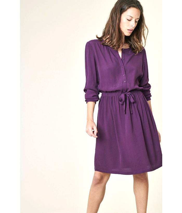 vestido berenjena de Harris Wilson