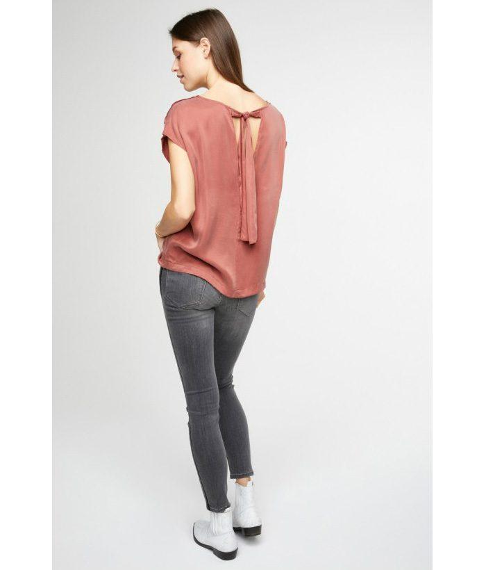 Blusa sedosa con lazo en espalda - YAYA - Moda AW 2018-2019 LAMOI