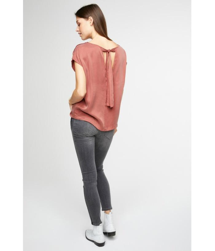 Blusa sedosa con lazo en espalda – YAYA – Moda AW 2018-2019 LAMOI