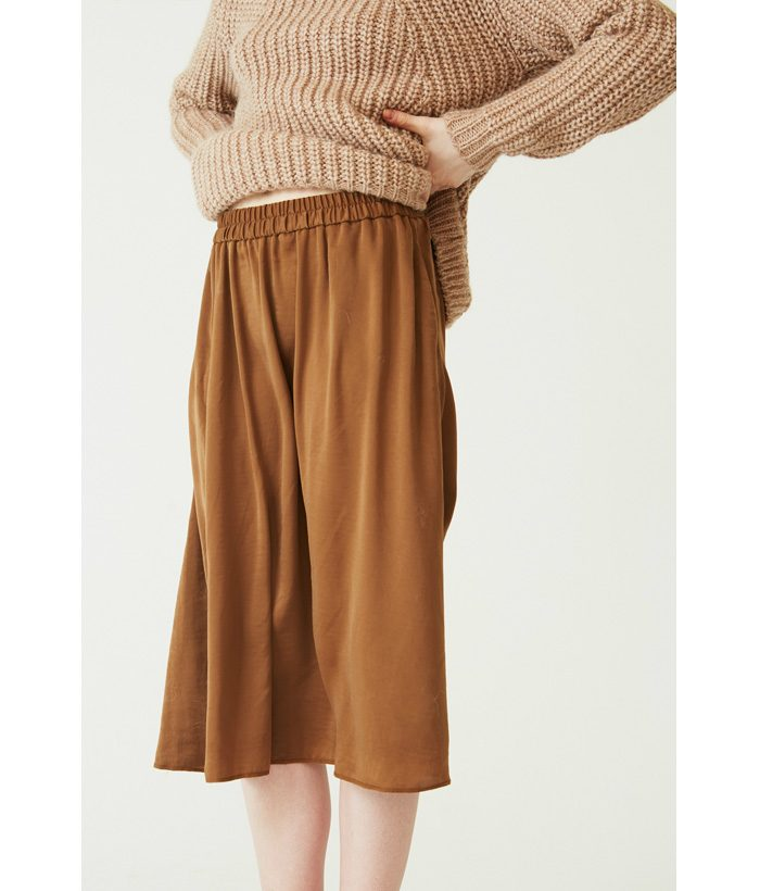 Falda satén marrón achampanado - Ropa Chica - Moda de mujer LAMOI