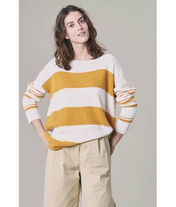 Jersey de alpaca a rayas - Harris Wilson - Moda de mujer en LAMOI