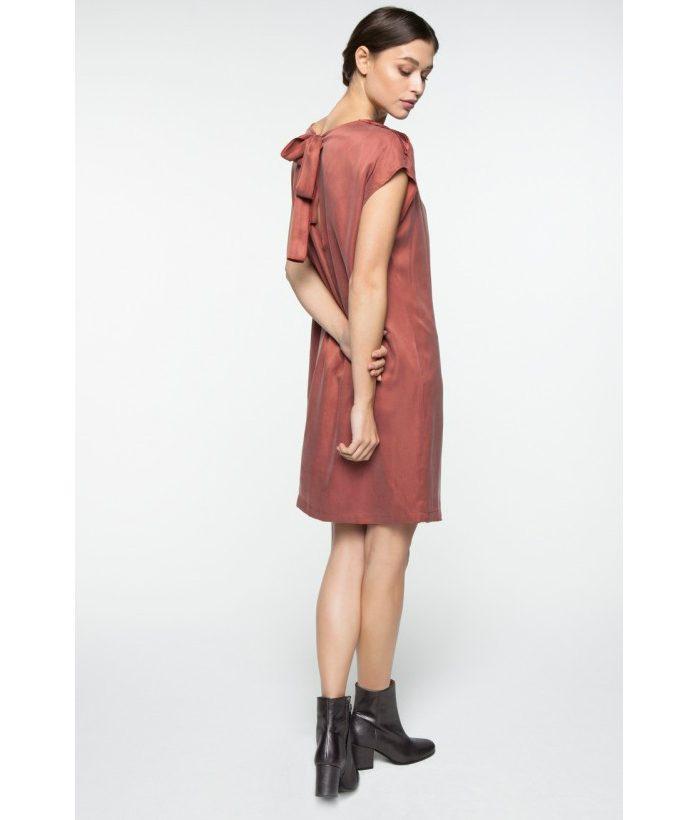 Vestido sedoso con espalda abierta - YAYA - Moda de mujer LAMOI