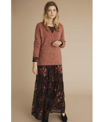 Vestido floral largo - ICHI - Encuentra la moda mas exquisita en LAMOI