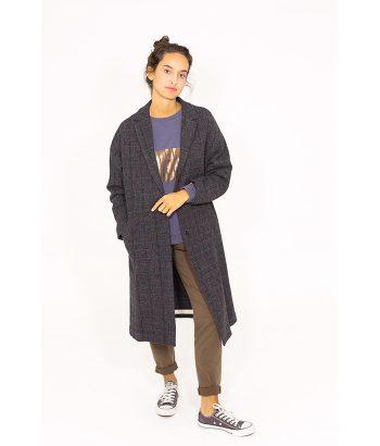 Abrigo con estampado de cuadros - Ropa Chica - MODA AW en LAMOI