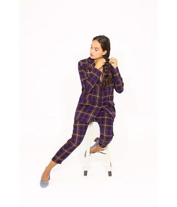 Blazer british estampado a cuadros - PLEASE - Moda de mujer en LAMOI