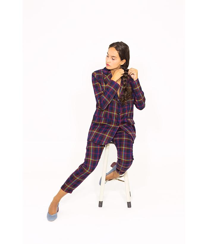 Blazer british estampado a cuadros – PLEASE – Moda de mujer en LAMOI