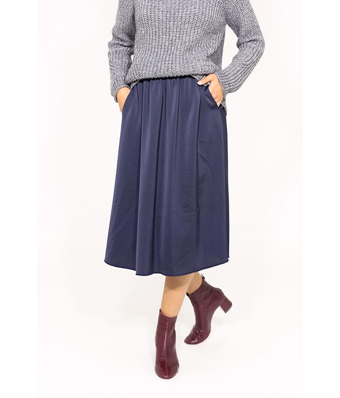 Falda satinada midi – Ropa Chica – Moda de temporada para mujer LAMOI