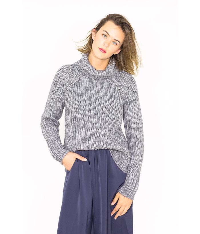 Jersey de punto gris – SUD EXPRESS – Moda otoño invierno en LAMOI