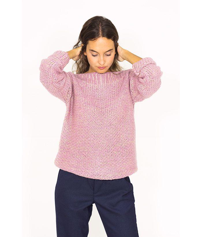 Jersey lila de punto gordo - NÜMPH - Moda AW 2018-2019 en LAMOI