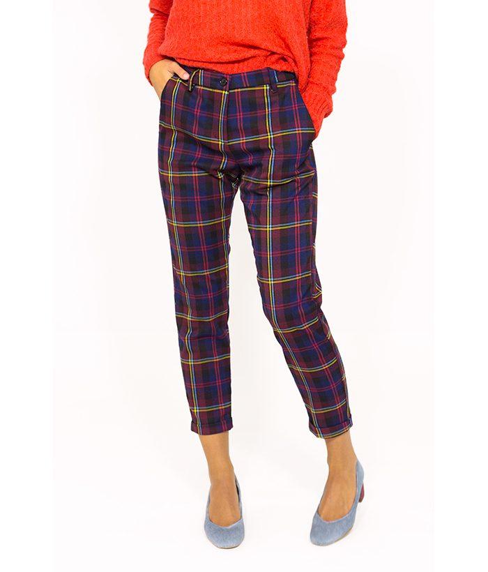 Pantalón cuadros escoceses - PLEASE - Moda mujer en LAMOI