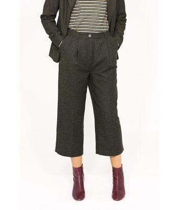 Pantalón de lana estilo británico - ICHI - Moda de mujer en LAMOI