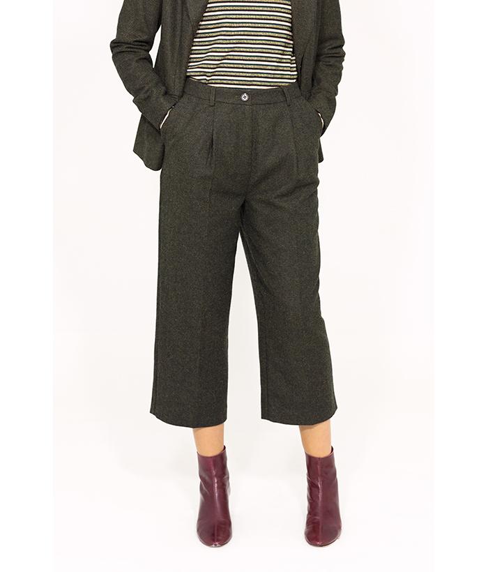 Pantalón de lana estilo británico – ICHI –  Moda de mujer en LAMOI