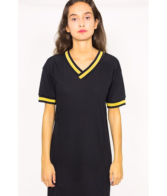 Vestido estilo deportivo de canalé - NÜMPH - MODA de mujer LAMOI